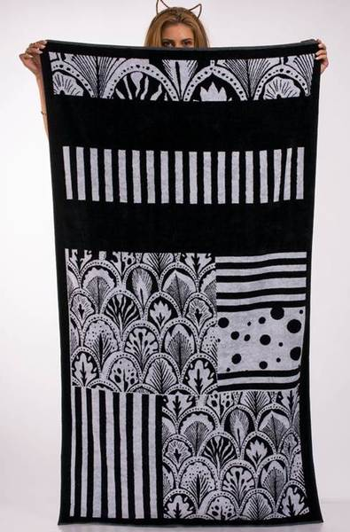 Плажна кърпа Black & White Patchwork